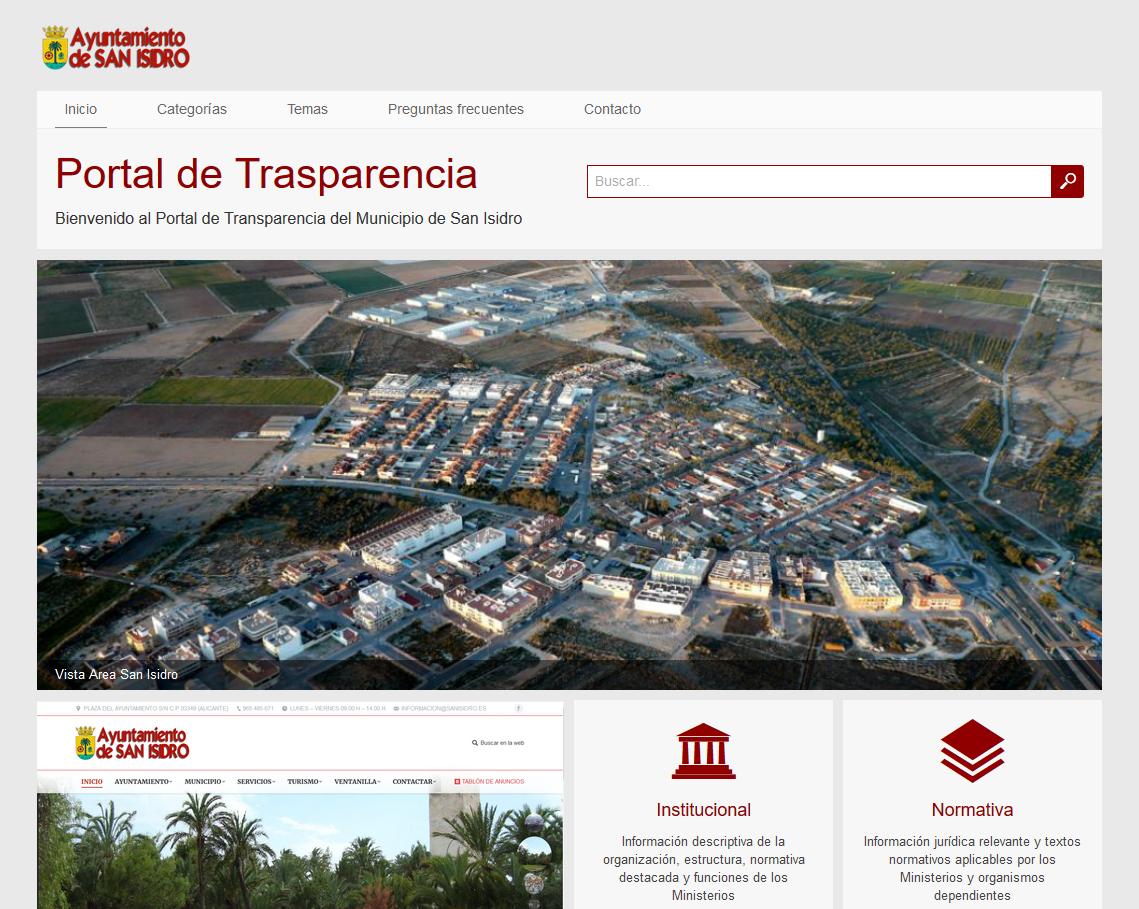 Pagina Web Transparencia Municipal